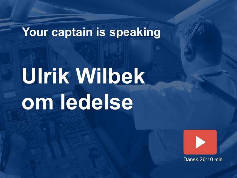 Ulrik Wilbek taler om sin bog: Gå forrest!
