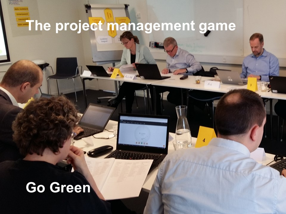 PC-based project management game